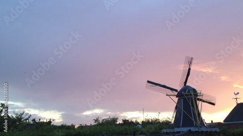 windmill in the netherlands in 1080p