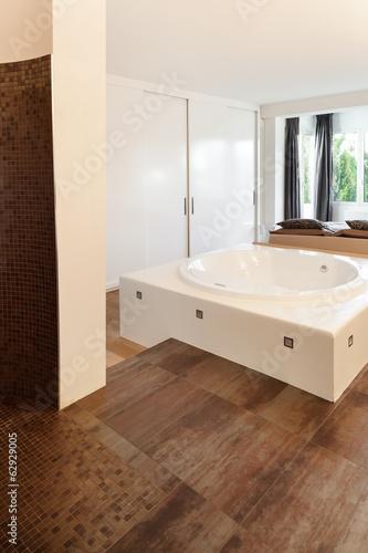 interiors of a modern house, bathroom