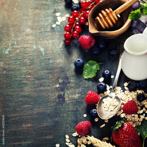 Breakfast with coffee, croissants and berries © Natalia Klenova