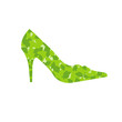 stiletto with green leaves