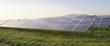 Leinwandbild Motiv Pannelli solari illuminati dai raggi del sole