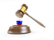 Russia gavel on a white background