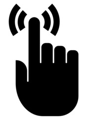Touch finger vector icon