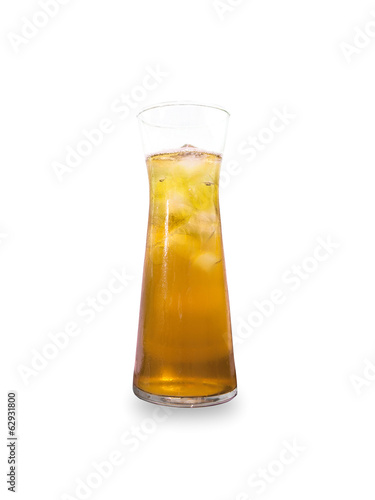 Glass of Apple Juice isolated on white background