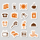 hotel and accommodation stickers poster