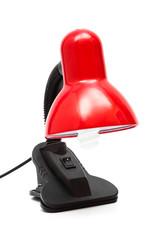 a modern red lamp