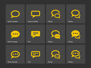 Speech bubble icons.