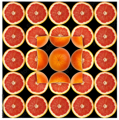 pattern of grapefruit