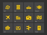 Fototapety Travel icons.
