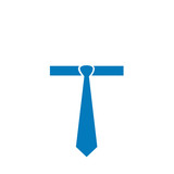 Tie graphic- logo for mens apparel business poster