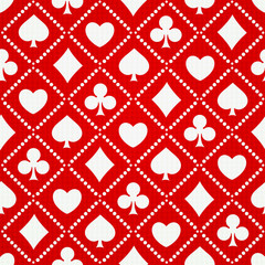 Seamless background playing card suits