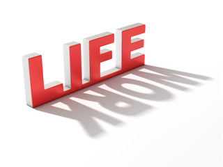 life or work 3d concept