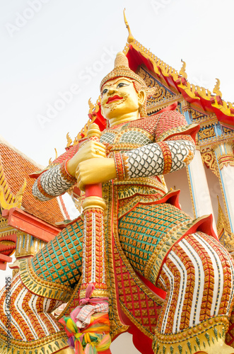 Thai giant statues in temple