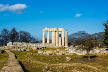 Ancient Temple of Zeus in the Nemea