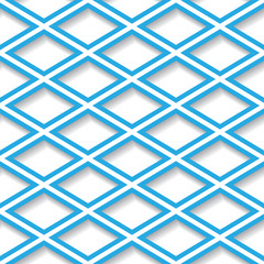 Abstract blue and white geometric seamless background. Eps10