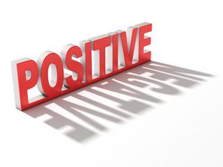 positive negative 3d concept