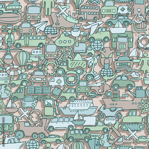 Transportation seamless pattern