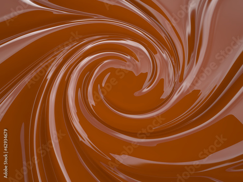 Chocolate cream, 3D