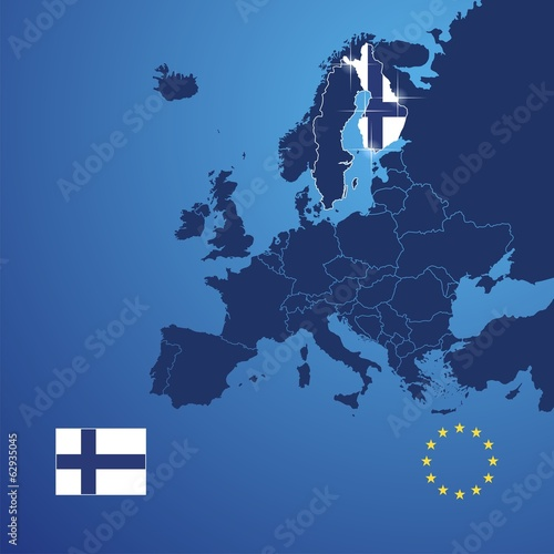 Finland map cover vector