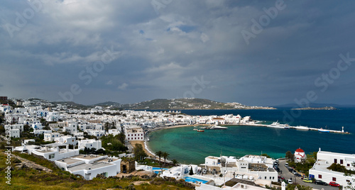 Cloudy Mykonos view