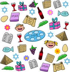 Passover Holiday Symbols Pack