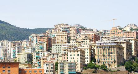 Panorámica de la ciudad de Génova, Italia