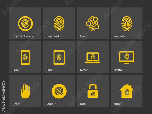 Finger scanner icons.