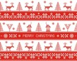 Merry christmas. Seamless nordic pattern. Vector illustration.