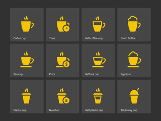 Tea mug and Coffee cup icons.