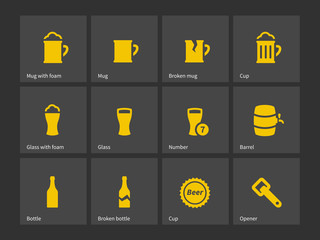 Beer icons.
