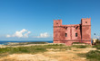 canvas print picture - St. Agatha's Tower oder The Red Tower in Malta