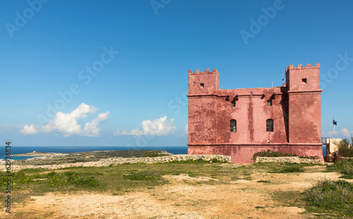 canvas print picture St. Agatha's Tower oder The Red Tower in Malta