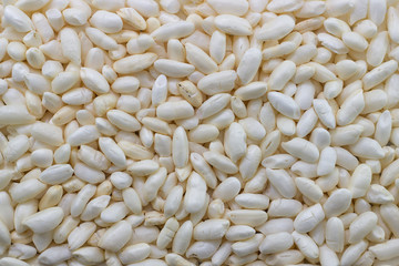 white expanded rice background