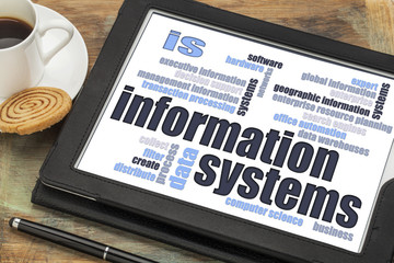 information systems word cloud