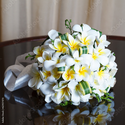 wedding bouquet of frangipani