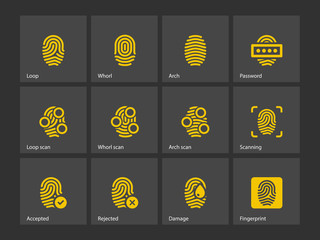 Fingerprint and thumbprint icons.