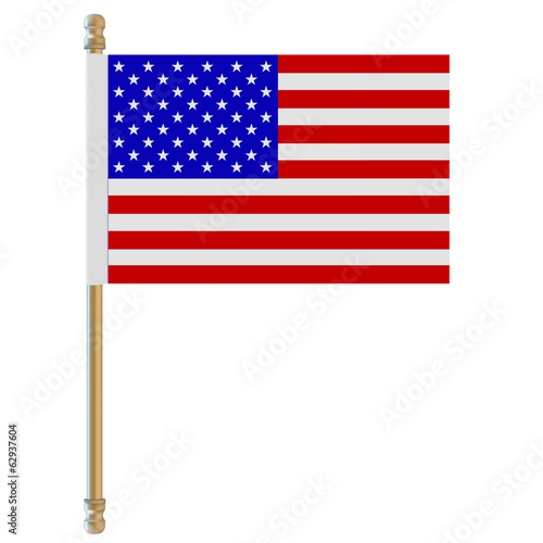 Flag of the USA. Vector illustration