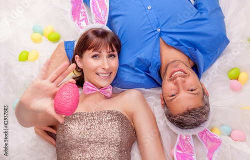 canvas print picture easter couple