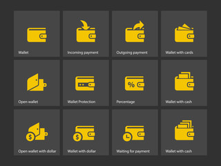 Wallet icons