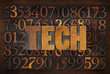 tech word in wood type