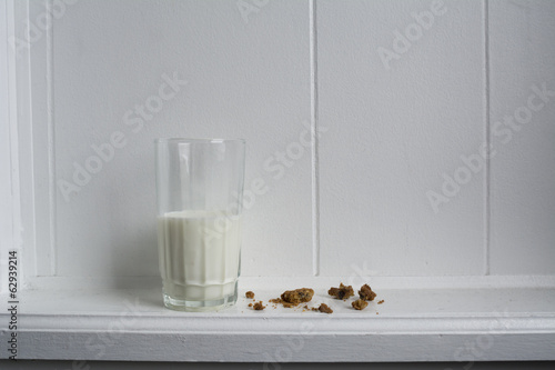 Milk and Crumbled Cookies