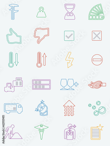 Set of  24 industry and various icons