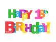 """""""HAPPY 18TH BIRTHDAY"""" CARD (eighteenth eighteen years old party)"""