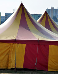 view of the circus tent of