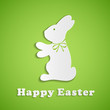 Easter background with paper rabbit