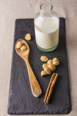 Castañas pilongas e ingredientes para un postre