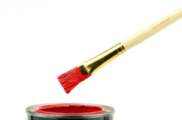 Red Paint Brush
