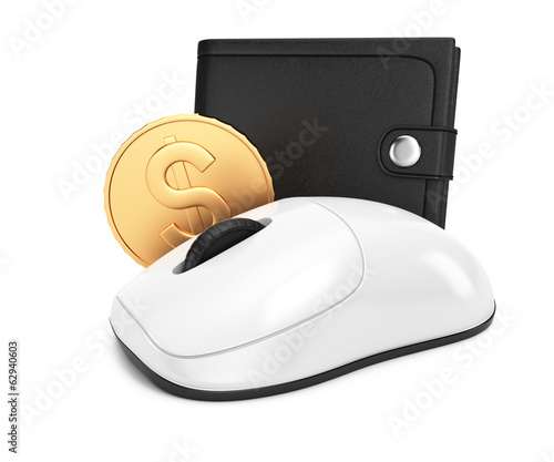 Computer mouse and wallet
