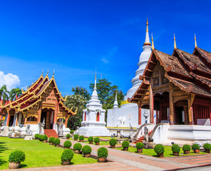 Wat Phra Sing in Chiang Mai province of Thailand