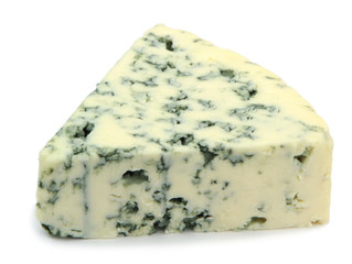 Blue cheese isolated on white background